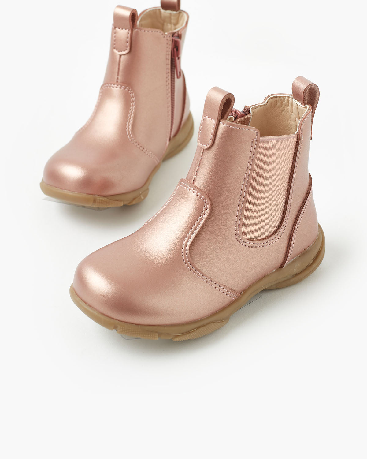 Rodeo Leather Boot - Rose Gold