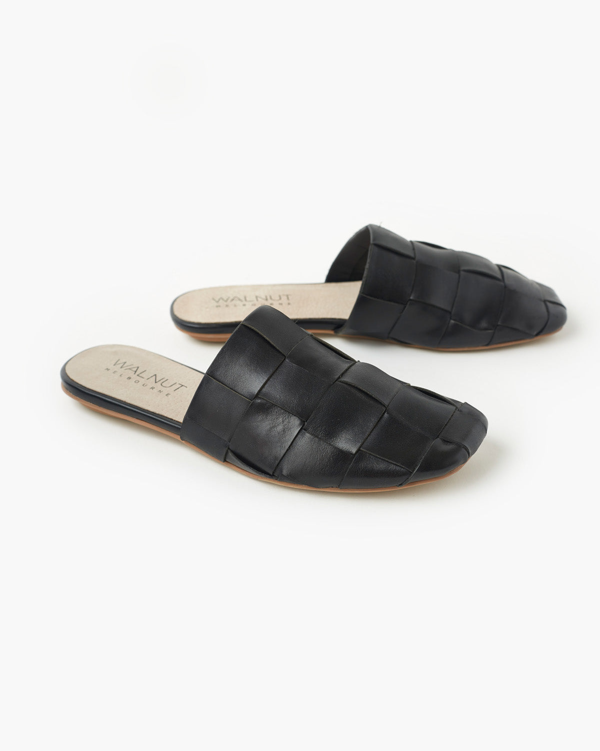 Rommie Leather Mule - Black