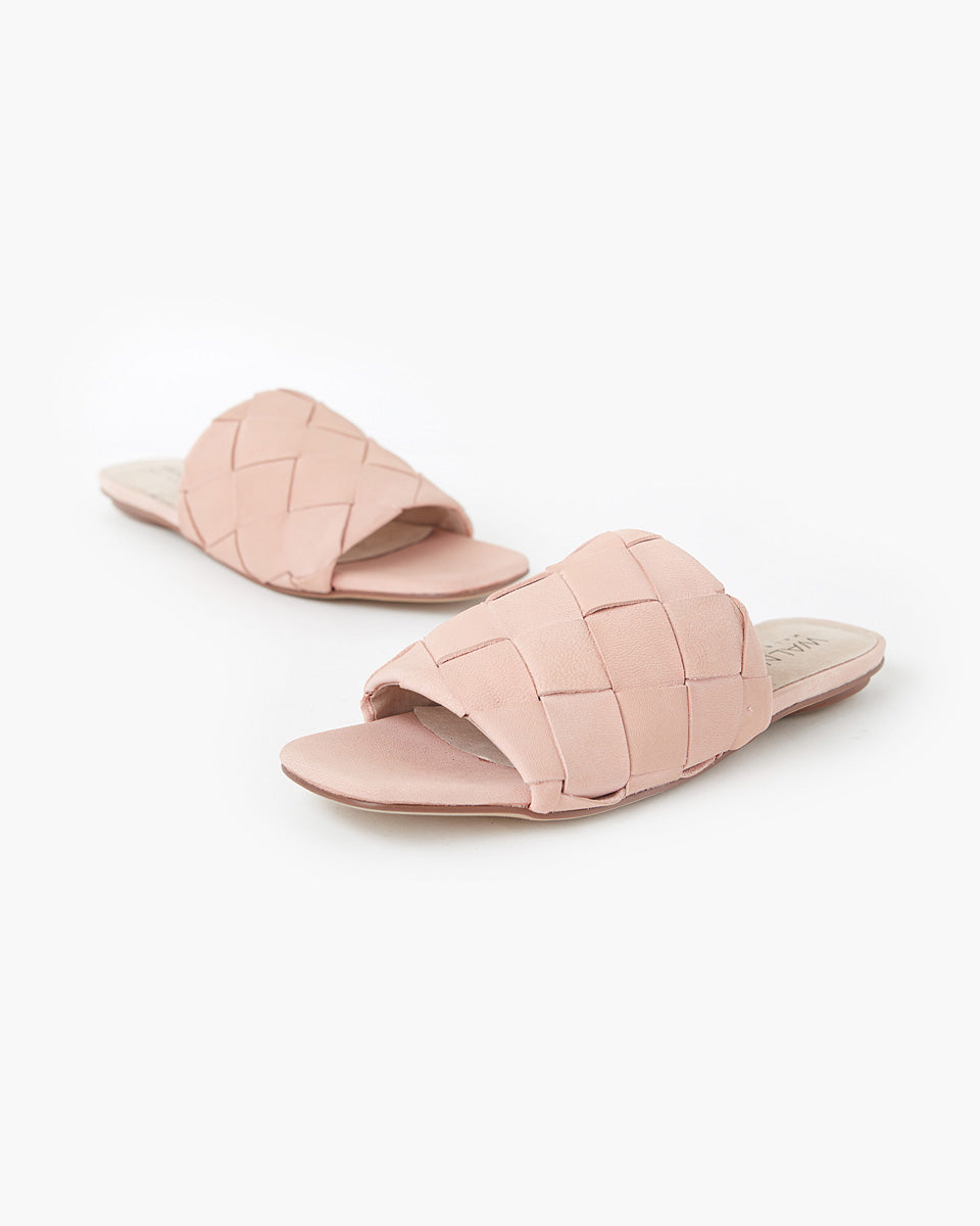 Rommie Leather Slide - Portabella