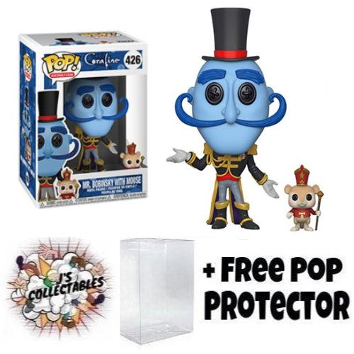 Mr Bobinsky with Mouse Pop Vinyl Coraline