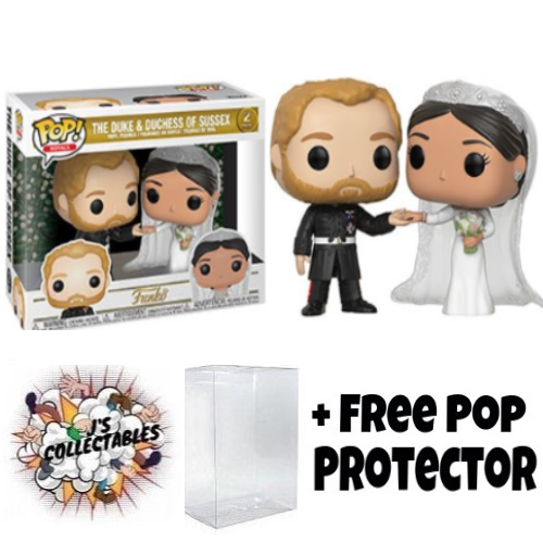Royal Family Duke Amp Duchess Of Sussex Pop Vinyl 2pk