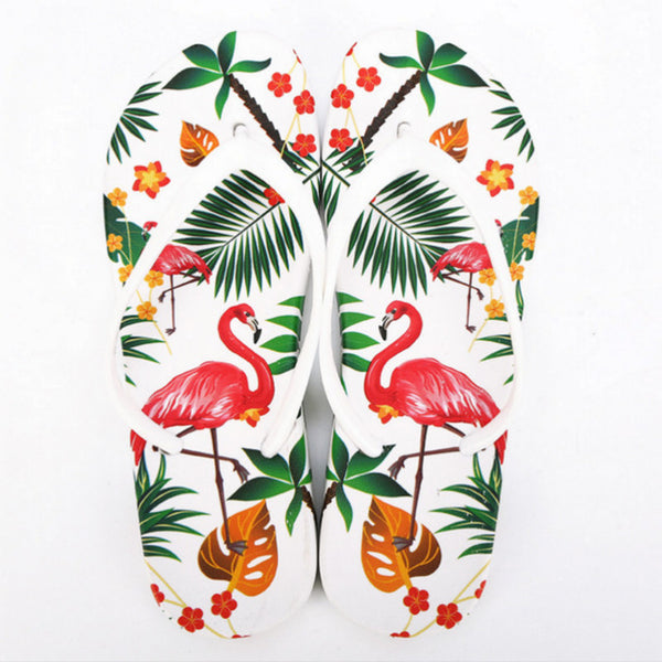 4f7e8735c2f7b6 ... Flamingo Slippers Women Summer Beach Slides Ladies 2018 Large Size 45  Casual Flats Sweet Flip Flops ...
