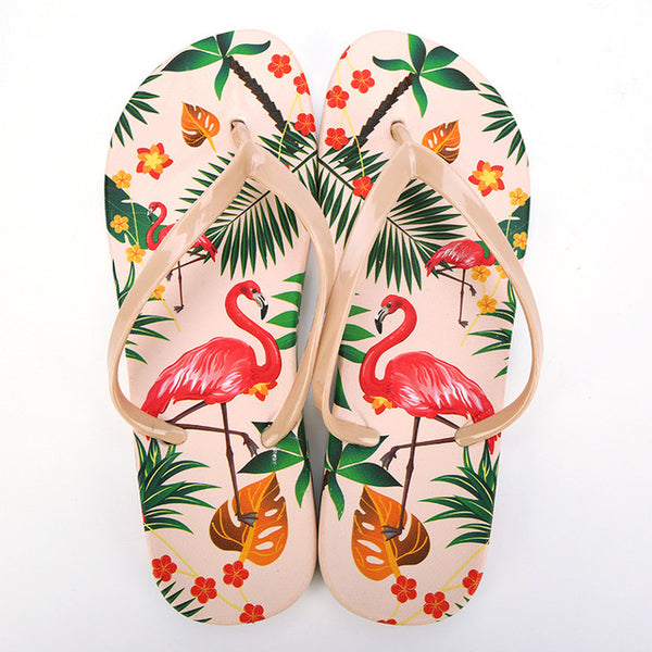 2dc12219c95b48 ... Flamingo Slippers Women Summer Beach Slides Ladies 2018 Large Size 45  Casual Flats Sweet Flip Flops
