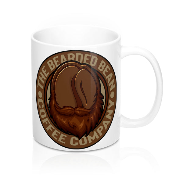 White BBCO Logo Mug - The Bearded Bean Coffee Company