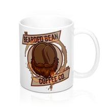 Load image into Gallery viewer, BBCC LOGO 11oz WHITE MUG - The Bearded Bean Coffee Company