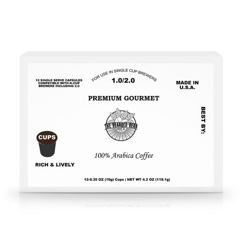 12 Pack Single Serve Coffee Capsules - The Bearded Bean Coffee Company