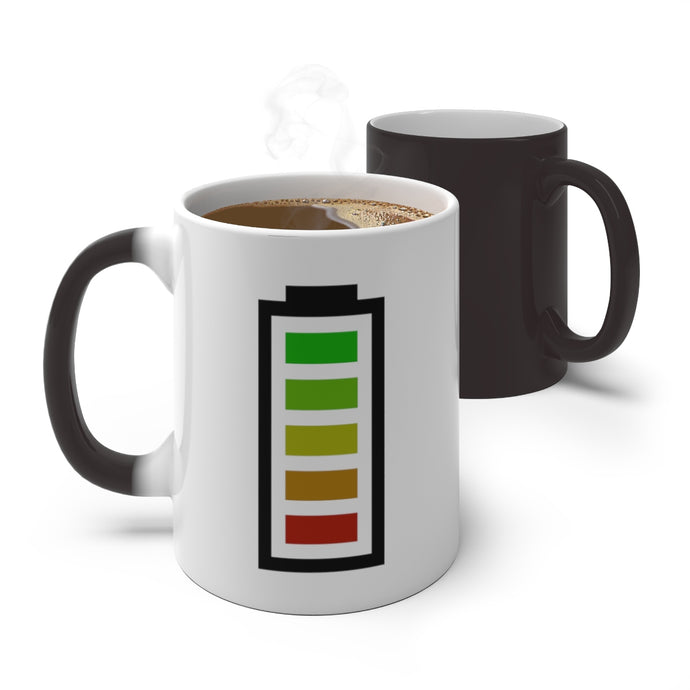 Battery Meter Coffee Mug - The Bearded Bean Coffee Company