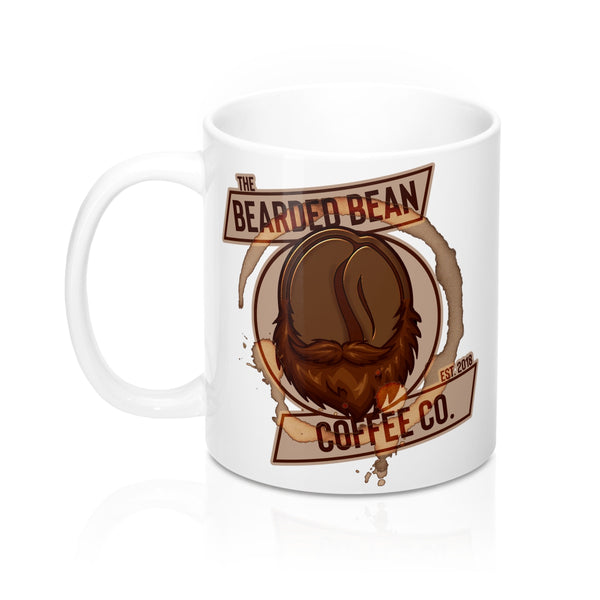BBCC LOGO 11oz WHITE MUG - The Bearded Bean Coffee Company