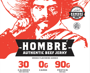 Hombre Beef Jerky - Regular Cut - 15.0 oz Package