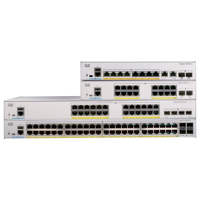 C1000-24P-4G-L - Cisco Catalyst 1000 Series 24PT 195W PoE 4x1G Switch