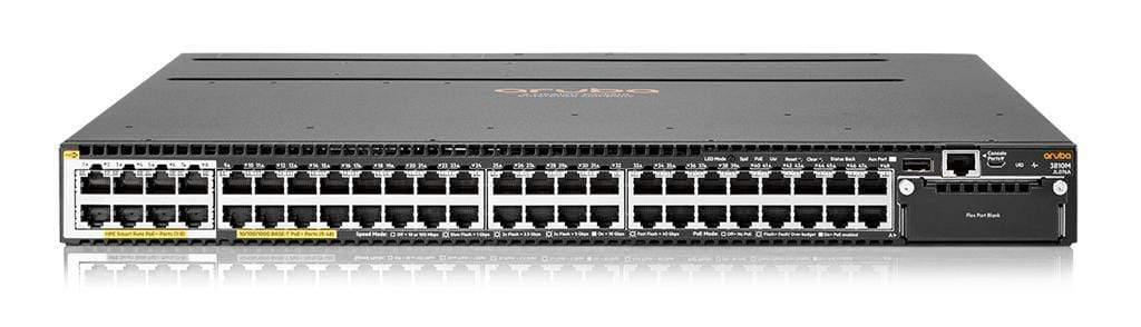 Aruba JL076A - Aruba 3810M 40G 8 HPE Smart Rate PoE+ 1-slot Switch  - IT Yuda