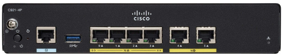 C921-4P - Cisco 921 Gigabit Ethernet security router