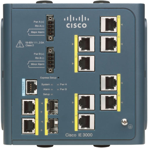 IE-3000-8TC - Cisco IE 3000 Switch 8port 10/100 + 2 T/SFP
