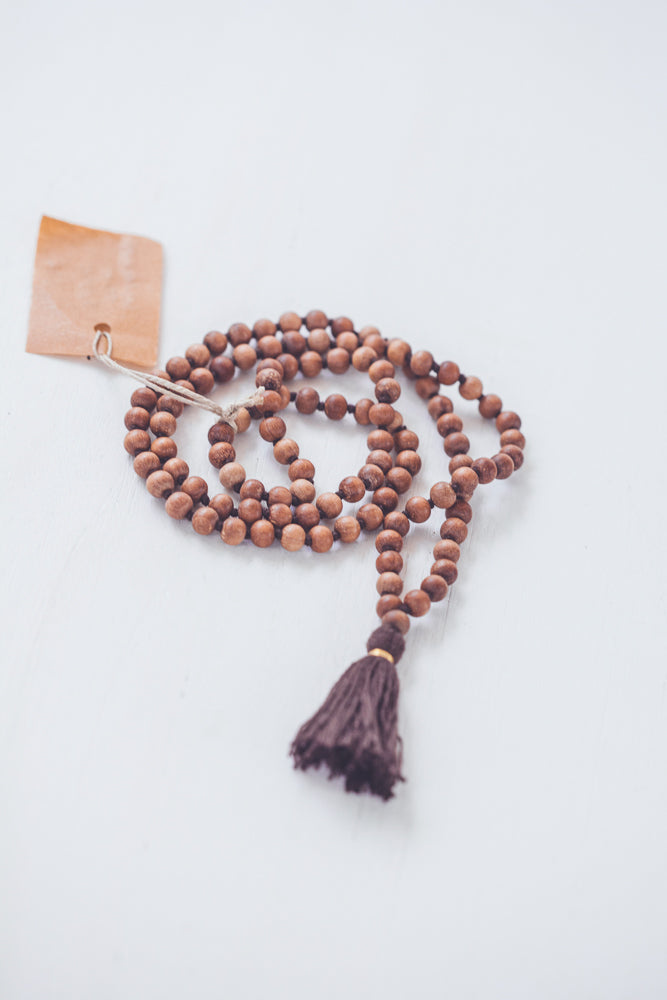 BODHI MALA SANDALWOOD BROWN