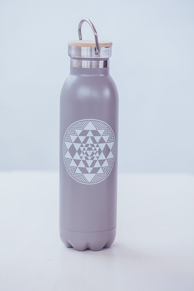 BODHI TERMO WATER BOTTLE YANTRA GRAY