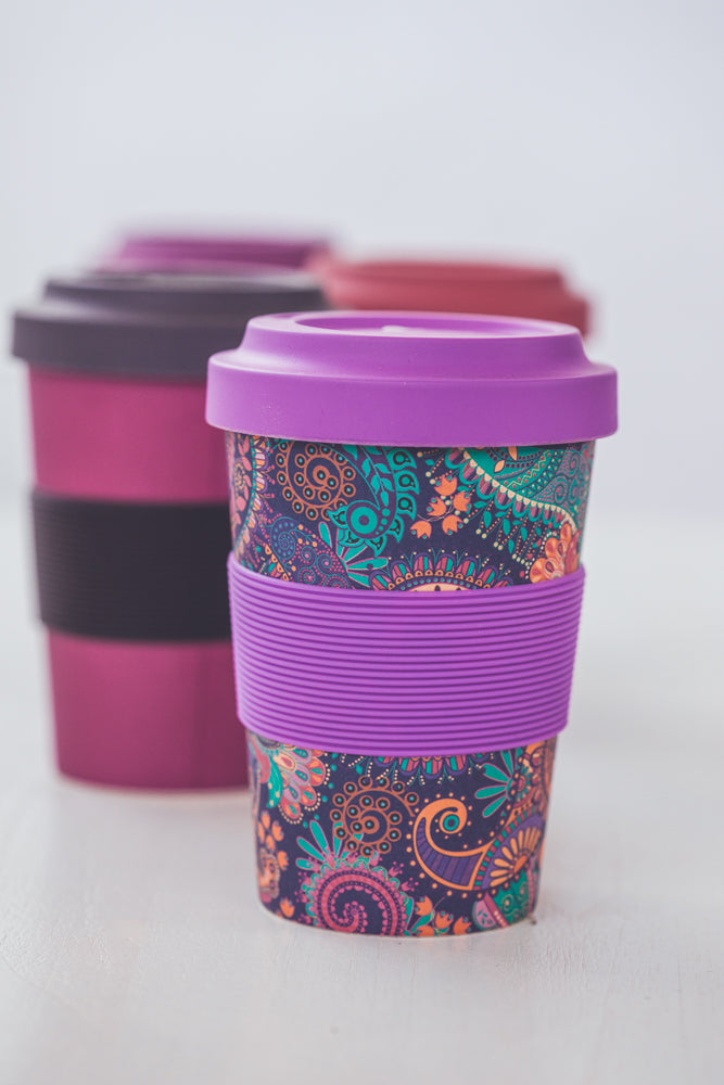 BODHI YOGI CUP TO GO PAISLEY PURPLE