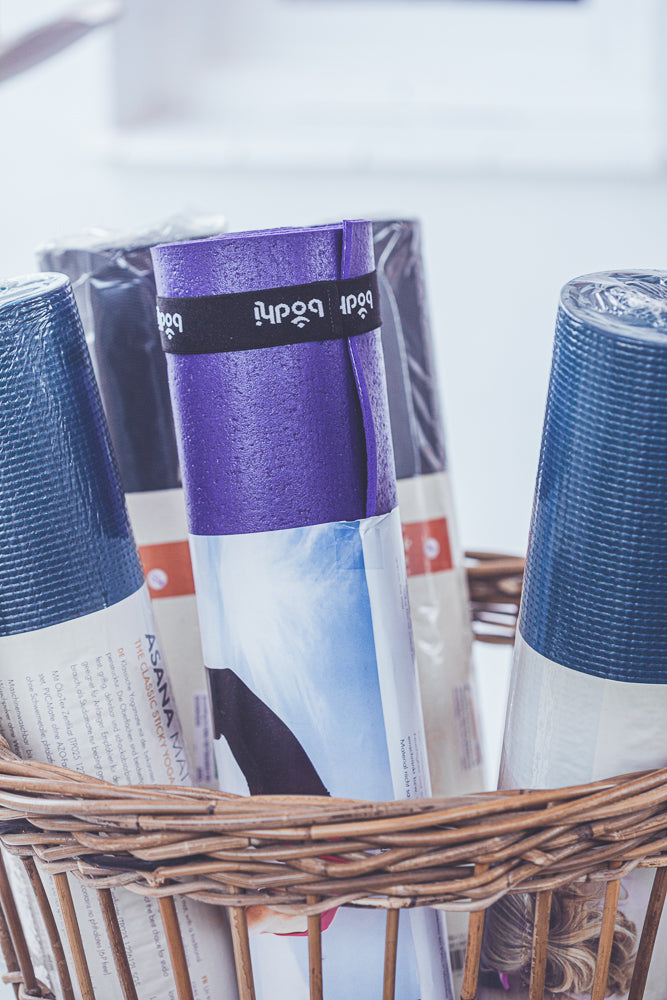 BODHI YOGA MAT ASANA 4MM BLUE PETROL