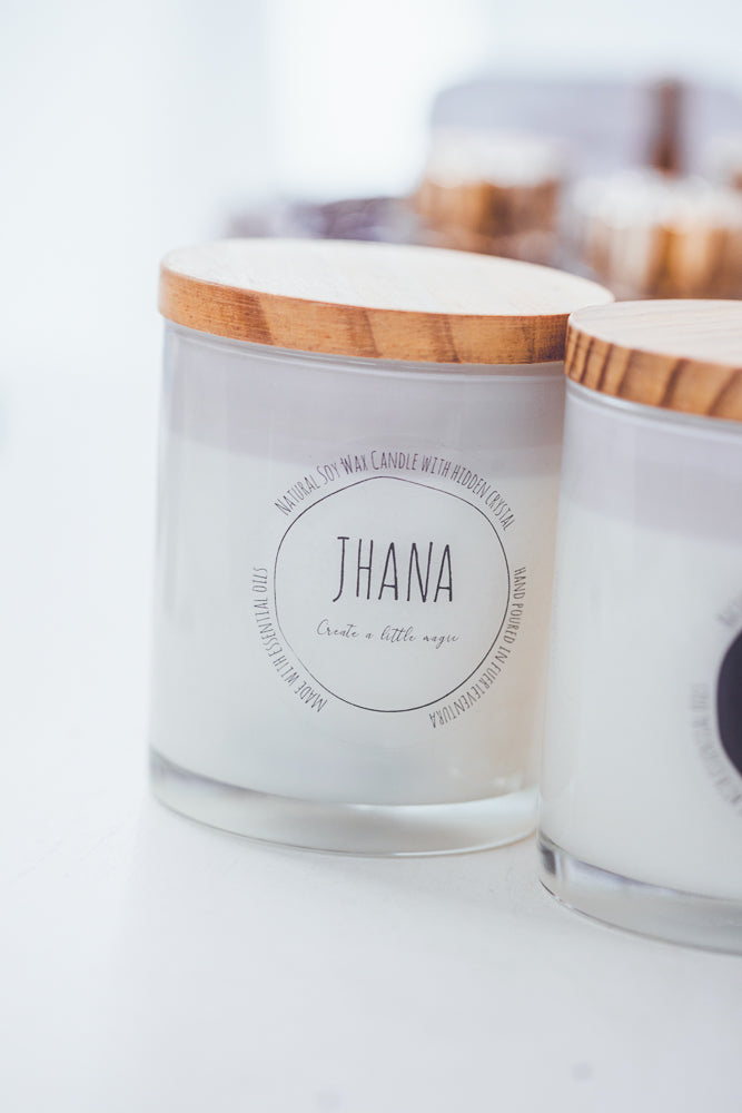 JHANA CRYSTAL CANDLE IN GLASS