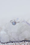 LAITLAH MINI ROUND MOONSTONE RING