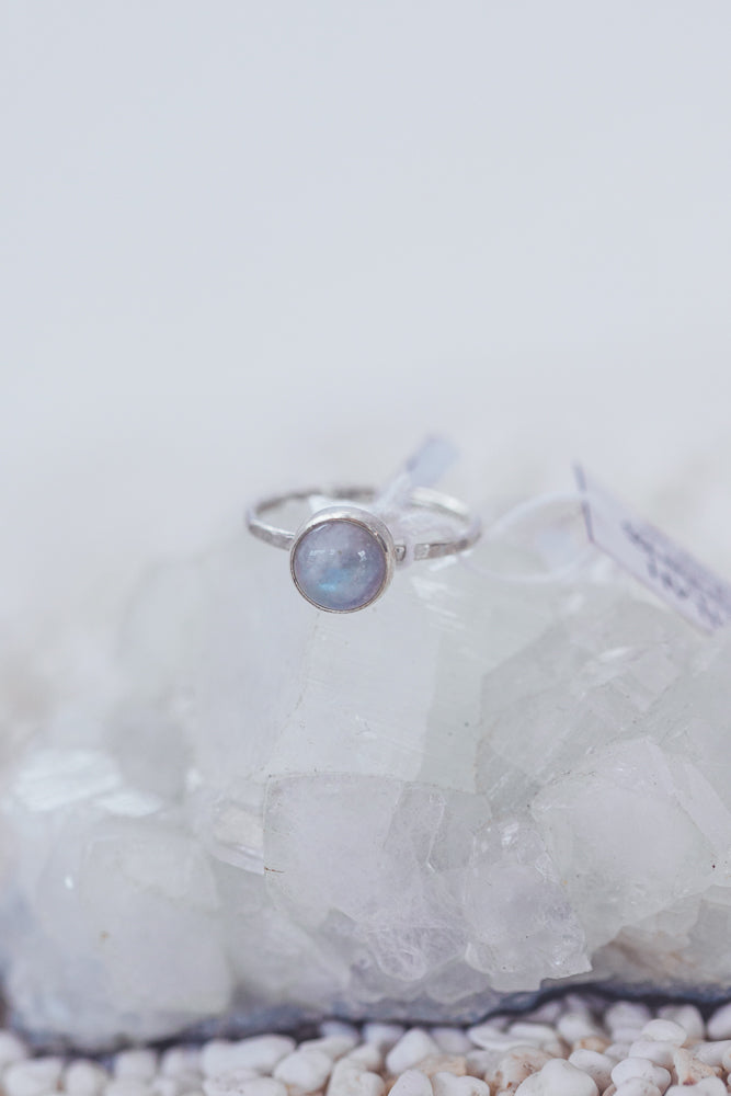 LAITLAH ROUND MOONSTONE RING