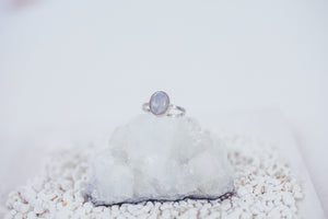 LAITLAH MINI OVAL MOONSTONE RING