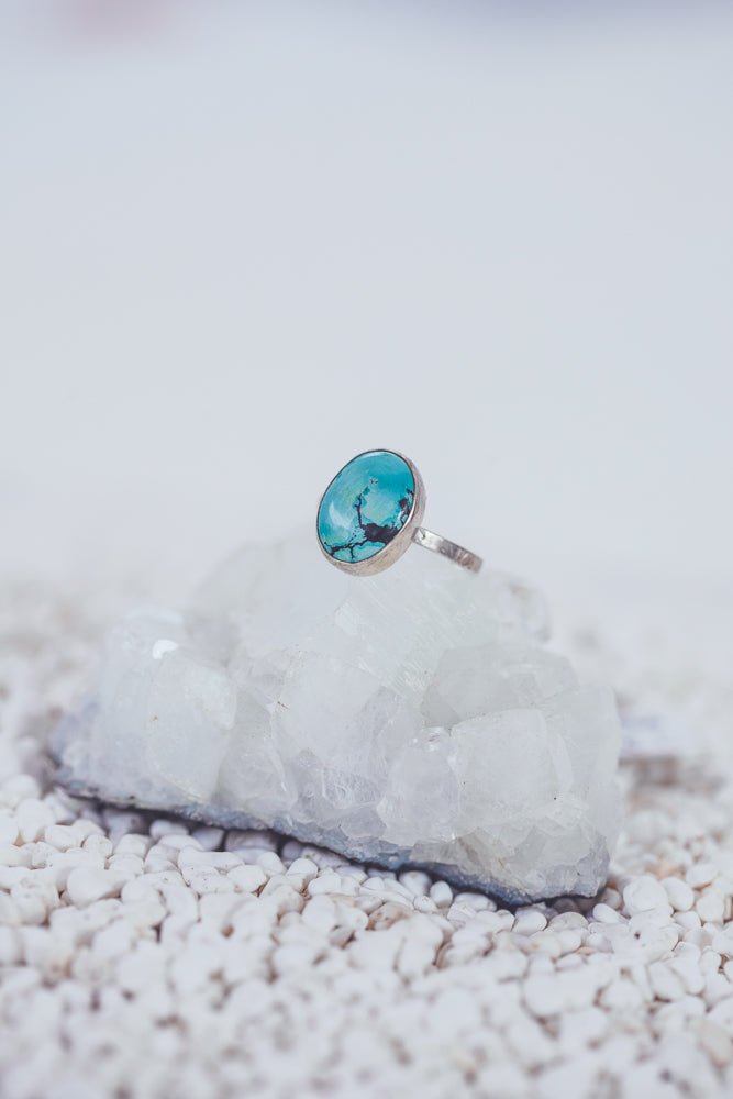 LAITLAH MINI OVAL TURQUOISE RING