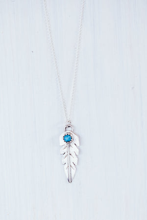 LAITLAH FEATHER TURQUOISE NECKLACE