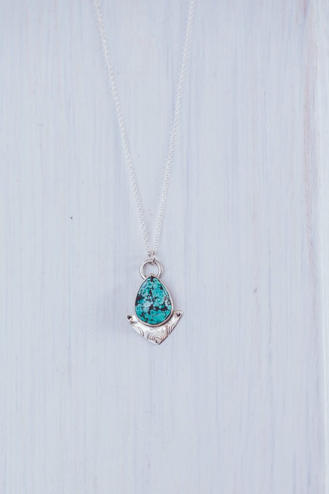LAITLAH TRIANGLE DROP TURQUOISE NECKLACE