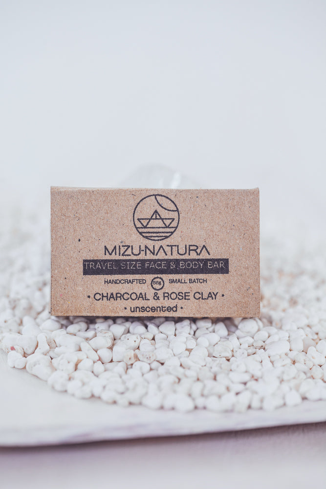 MIZU CHARCOAL & ROSE CLAY HANDMADE SOAP
