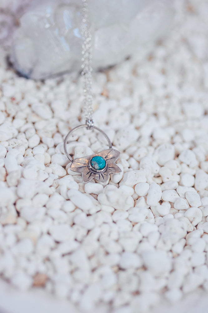 LAITLAH LOTUS TURQUOISE NECKLACE