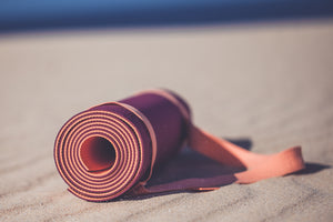 "MELON AND LIME ""PLUM"" YOGA MAT WITH THE APP"