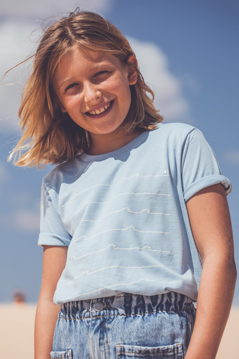 KIDS ORGANIC WAVES T-SHIRT