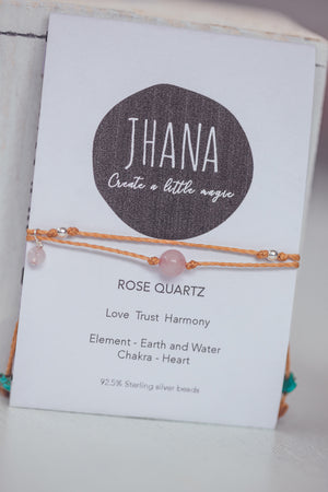 JHANA ROSE QUARTZ CRYSTAL BRACELET