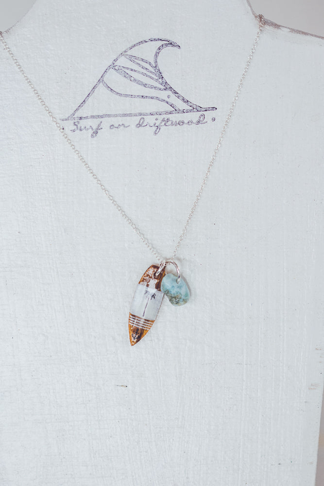 SURF ON DRIFTWOOD DON'T WORRY BE HAPPY NECKLACE