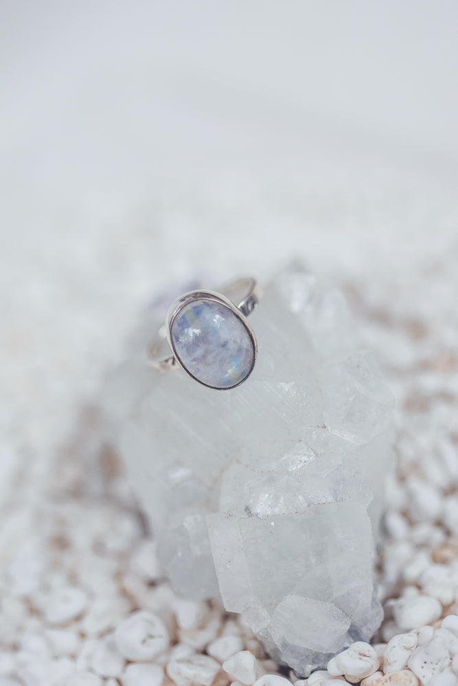 LAITLAH BIG OVAL MOONSTONE RING
