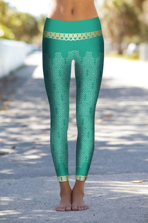 BRIGHT BOHO MAROCCAN SPIRIT LEGGINGS