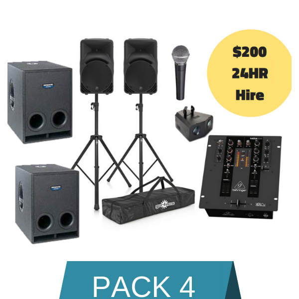 Sound Hire Package 4 - Alpha Sound and Lighting