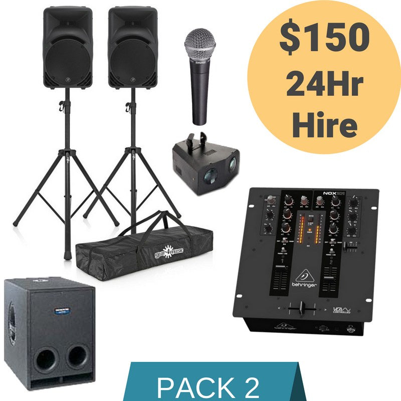 Sound Hire Package 2 - Alpha Sound and Lighting