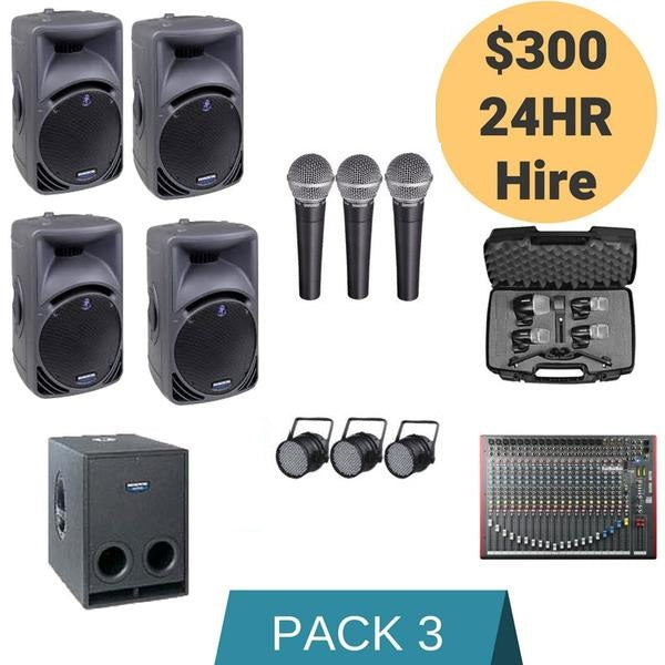 Sound Hire Package 3 - Alpha Sound and Lighting