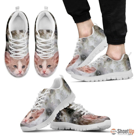 Beautiful LaPerm Cat Print Sneaker For Men- Free Shipping