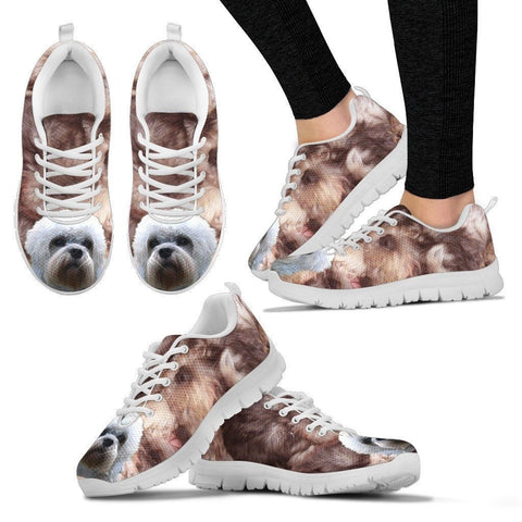 Customized Dog Print Running Shoes For Women-Express Shipping- Designed By Renard Vibeke