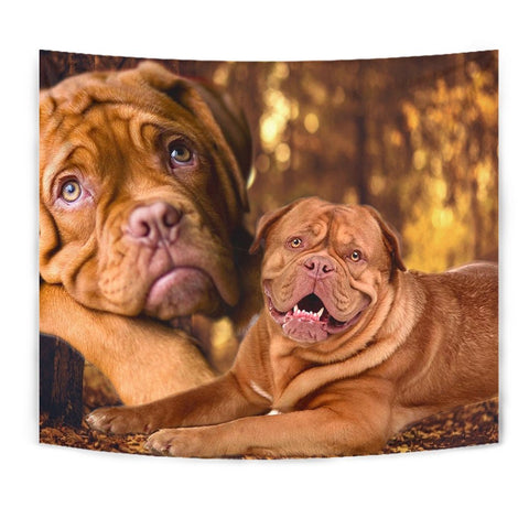 Dogue De Bordeaux Print Tapestry-Free Shipping