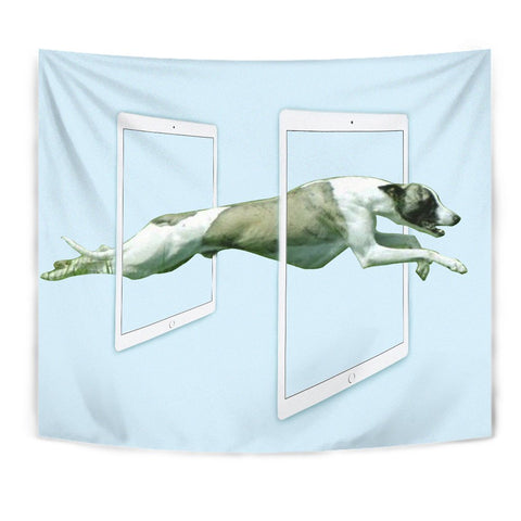 Whippet Dog Print Tapestry-Free Shipping
