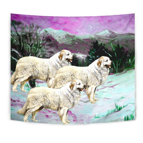 Great Pyrenees Dog Art Print Tapestry-Free Shipping