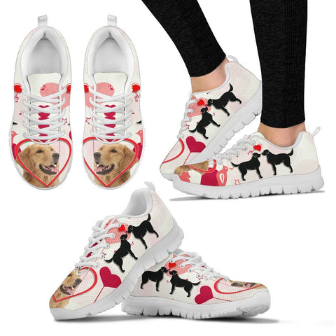 Valentine's Day Special Golden Retriever Print Running Shoes For Women- Free Shipping