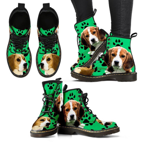 Paws Print Beagle Boots For Women-Express Shipping