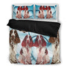 English Springer Spaniel Heart Print Bedding Set-Free Shipping