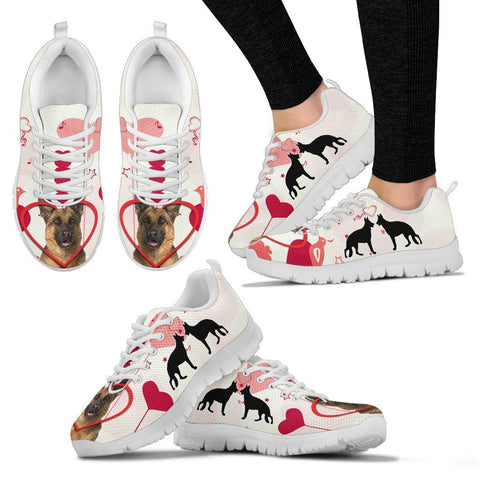 Valentine's Day Special German Shepherd Dog Print Running Shoes For Women- Free Shipping
