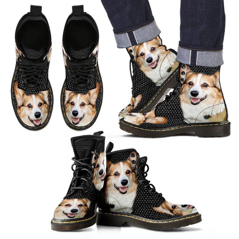 Pembroke Welsh Corgi Print Boots For Men-Express Shipping