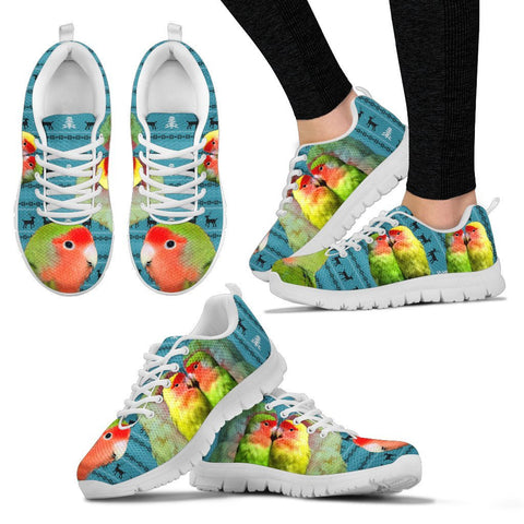 Rosy-Faced Lovebirds (Peach-Faced Lovebirds) Christmas Running Shoes For Women- Free Shipping